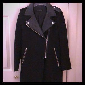 Zara Moto Wool Coat
